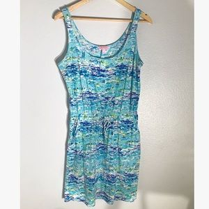 Lilly Pulitzer Cotton Dress Beach Scene Medium